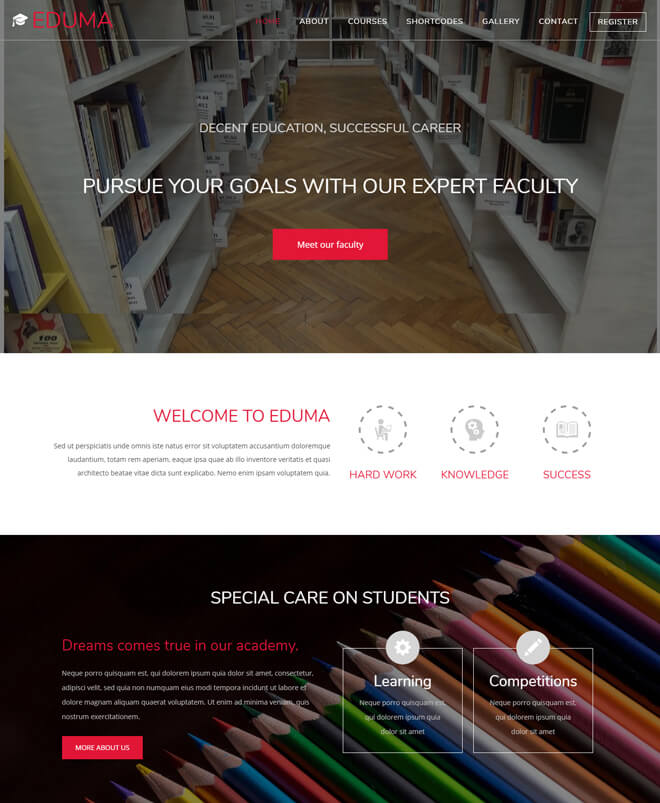 Eduma - free online education website template