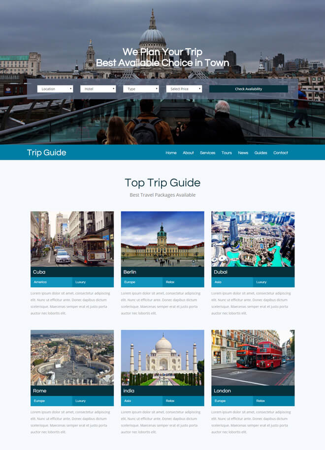 26.-Trip-Guide-travel website html5 bootstrap template