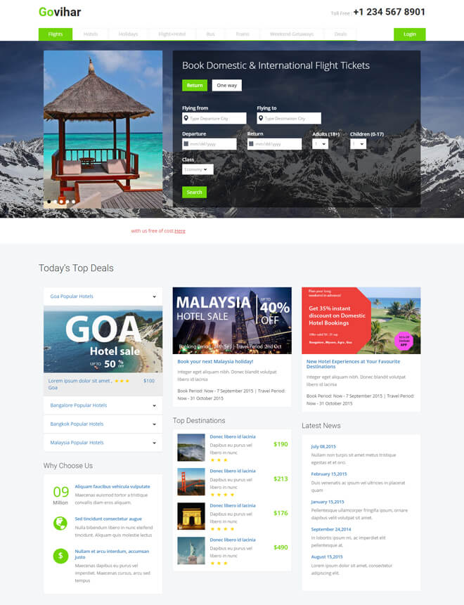 27.-Govihar-travel website html5 bootstrap template
