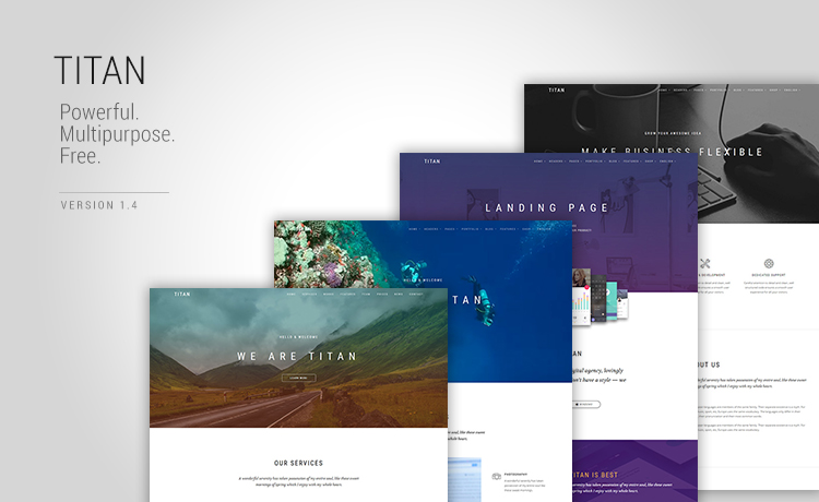 Multi page Multipurpose Template made with HTML5 & Bootstrap