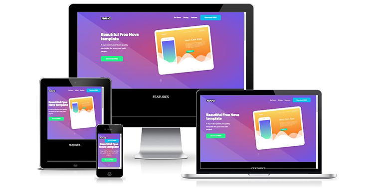 Free Project Showcasing One page Bootstrap Template