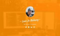 Profile-Free Portfolio/Resume Bootstrap Template