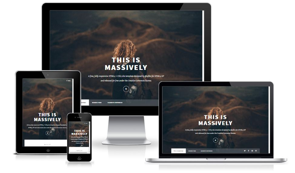 Free Responsive Blogging Template