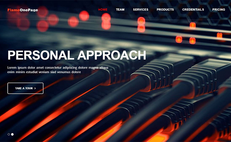 Free Bootstrap Business, Agency, Personal One Page Template