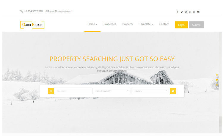 Free HTML5 Bootstrap Multipage Real Estate Template