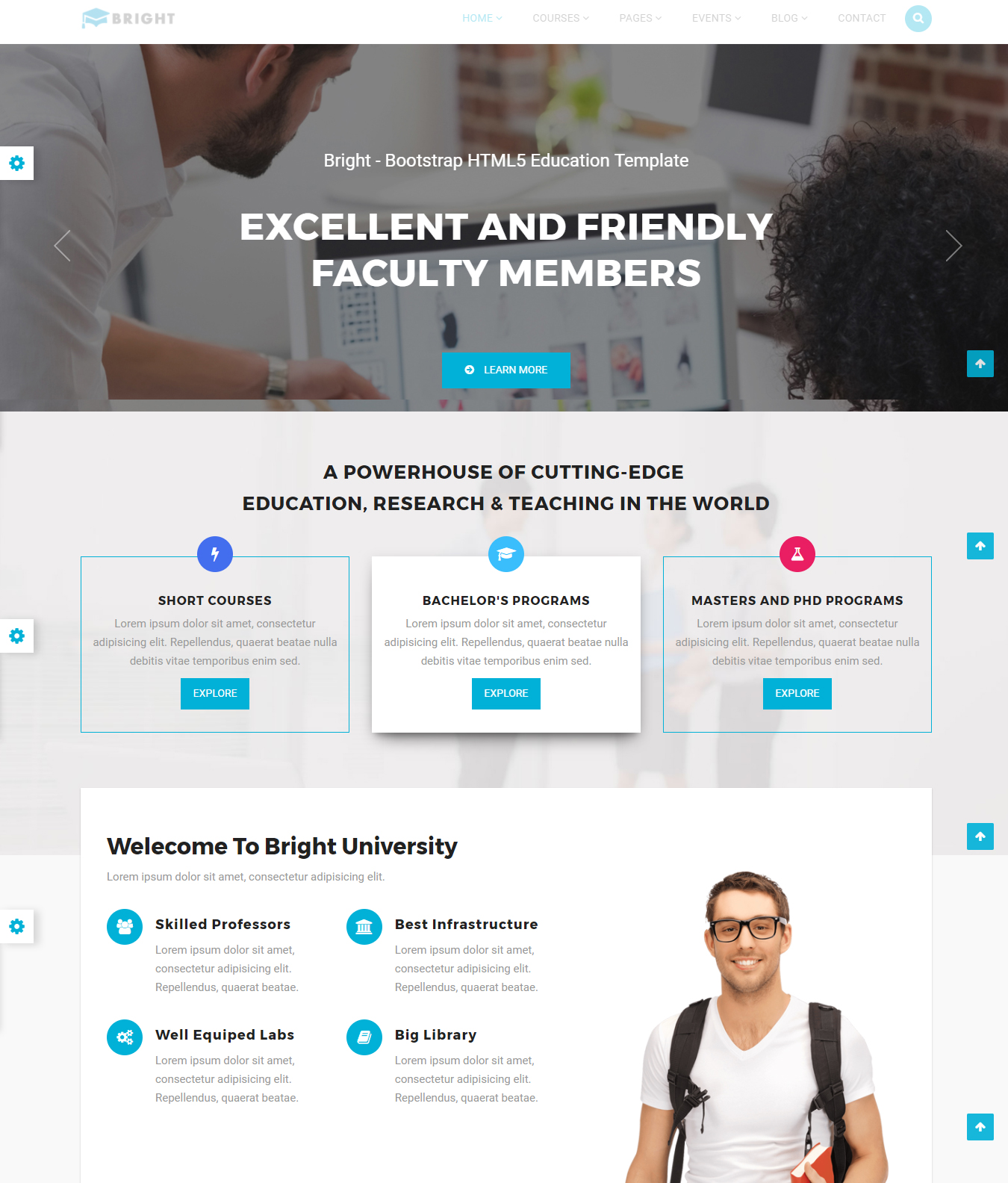 High Quality Educational Website Templates