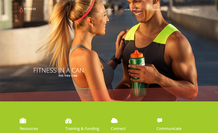 free bootstrap 4 fitness template