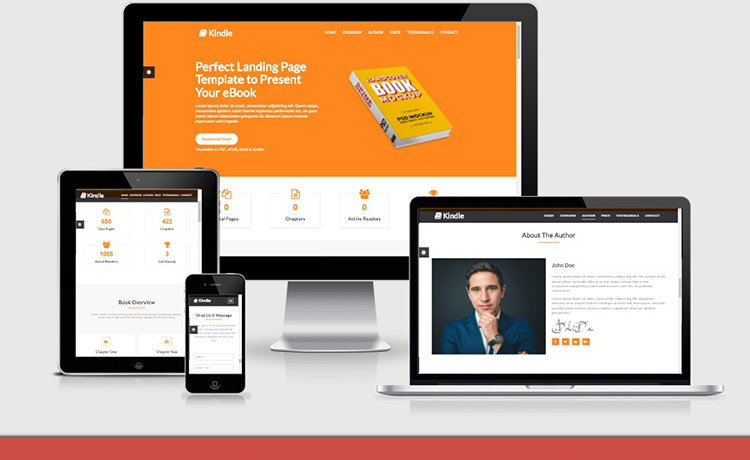 Free HTML5 eBook Landing Template