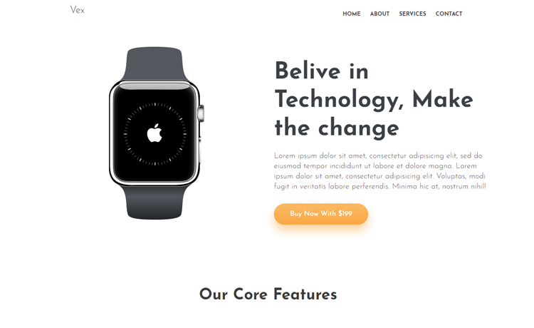 Free Bootstrap 4 Landing Page Template