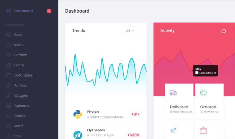 Best HTML5 Bootstrap Admin Dashboard Template