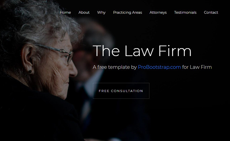 A Bootstrap 4 Template for Your Law Firm