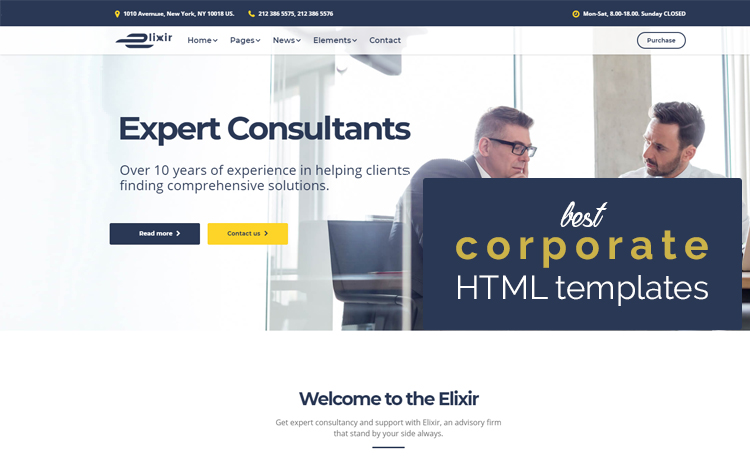 best corporate HTML templates