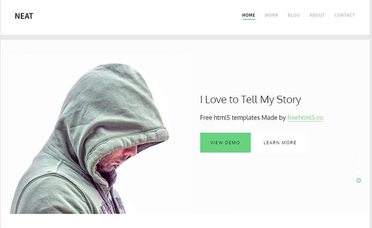Free Responsive HTML5 Portfolio Template