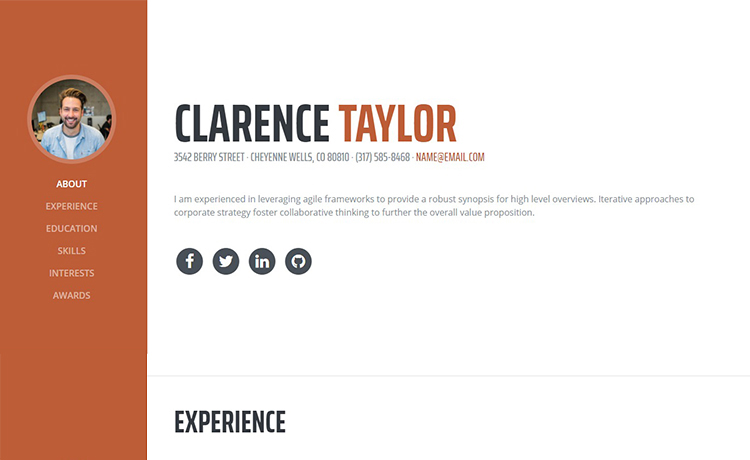 A Bootstrap 4, Simple Yet Exquisite CV Template