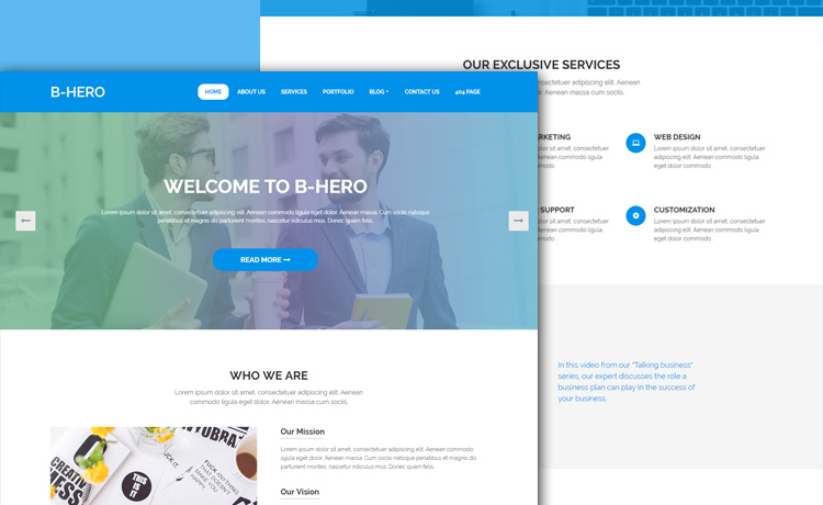 Enthralling Free HTML5 Bootstrap 4 Business Website Template