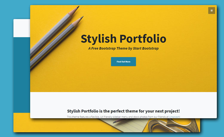 An Elegant Bootstrap 4 Portfolio Template For Professional Websites