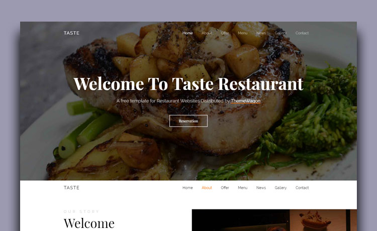 Engaging Free Bootstrap 4 Restaurant Template