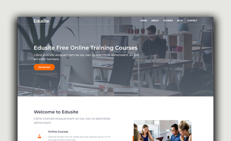 Free HTML5 Bootstrap Education Template