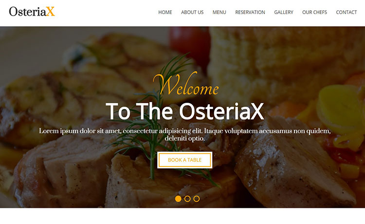 Free HTML5 Restaurant Template with Working Contact Form