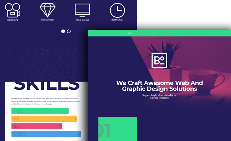 Free HTML5 Bootstrap Template for Agency