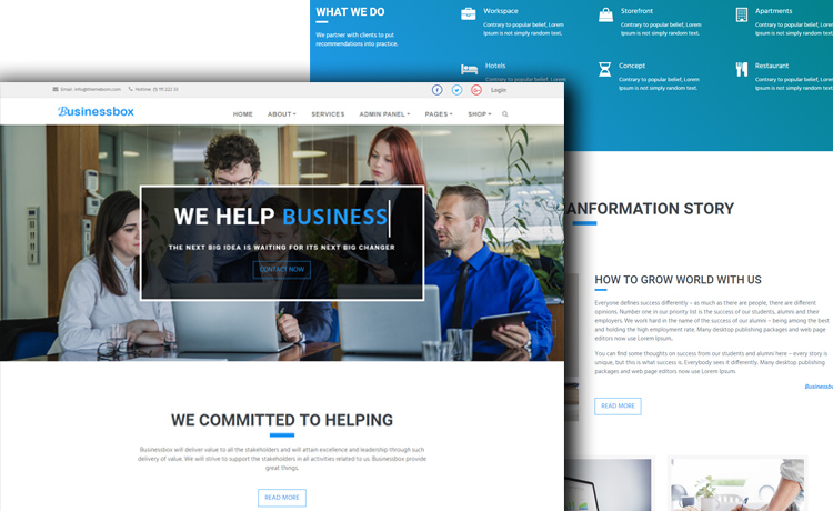 Free Multi-page HTML5 Bootstrap Business Template