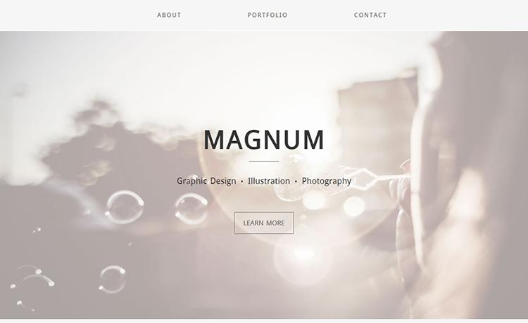 Minimalistic Free HTML5 Bootstrap Multipurpose Portfolio Template