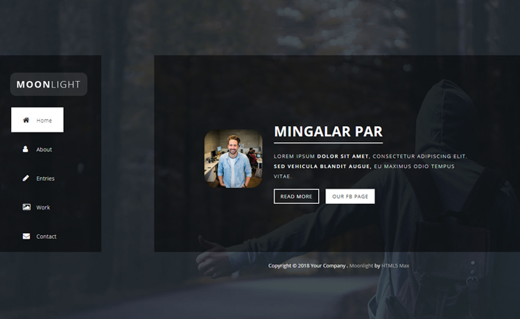 Free HTML5 One Page Bootstrap Template for Portfolio and Photography