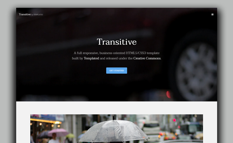 Free HTML5 Business Template With Video Background