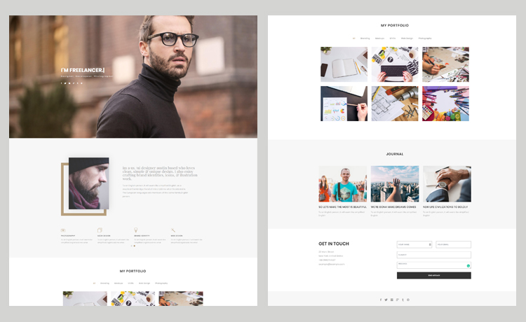 Free HTML5 Bootstrap Personal Website Template for Showcase Pages & Online Portfolio