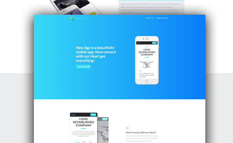 Free HTML5 Bootstrap App Landing Squeeze Page