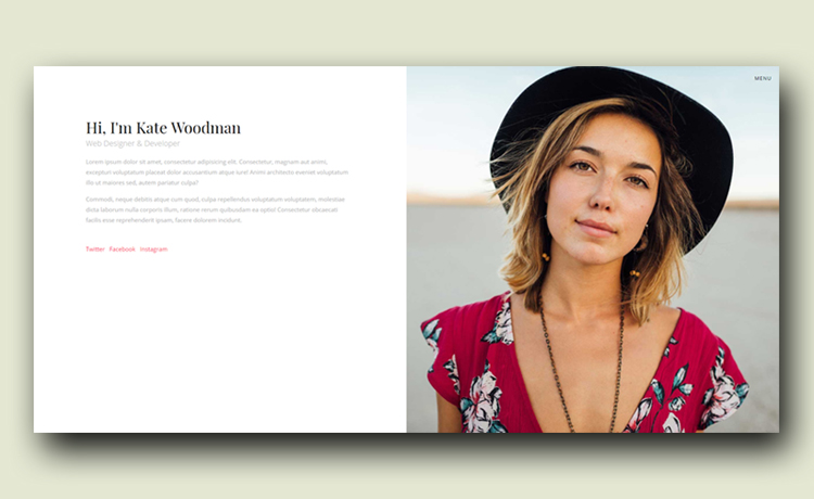 Free HTML5 CV Website Template - Personify