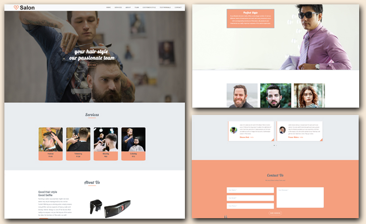Free HTML5 Hair Salon Website Template For Hairdressing Business