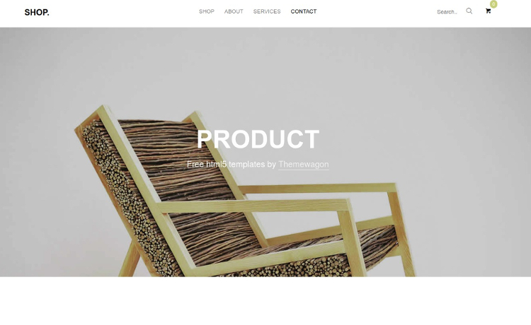 Free Ecommerce HTML5 Template for Responsive Shop Pages