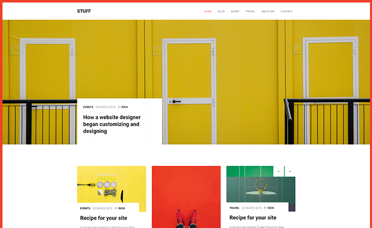 Free HTML5 Multi-page, Content-focused, Bootstrap Blog Theme