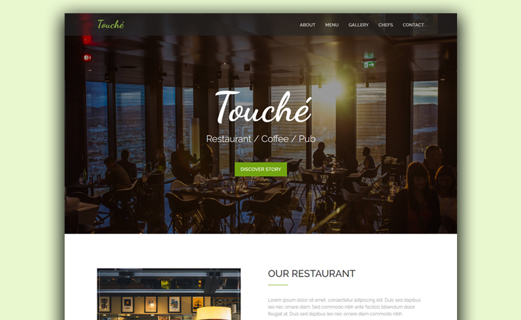 Free HTML Restaurant Website Template With Parallax Scrolling