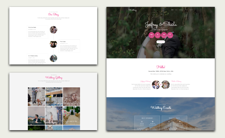 Multi-page Free HTML5 Bootstrap Wedding Website Template