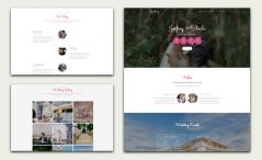 free bootstrap wedding website template