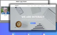 Free One Page Modern Agency HTML5 Template