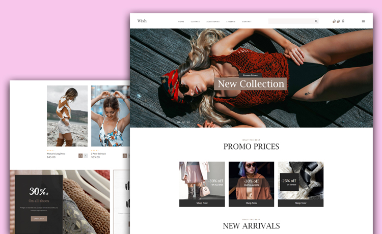 Responsive and Shop-ready Free eCommerce Website template