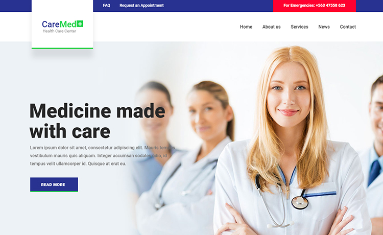 Free HTML5 Medical Template with Multiple Ready Pages