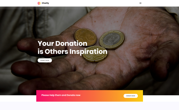 free charity responsive website template