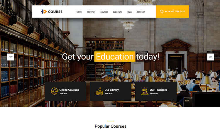 Multi-page Free HTML5 Education Template