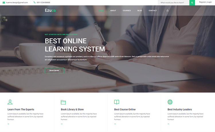 Free HTML5 Education Template for Modern Websites