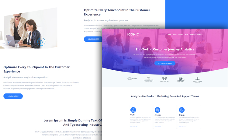 Simple and Lightweight Free HTML5 Corporate Template