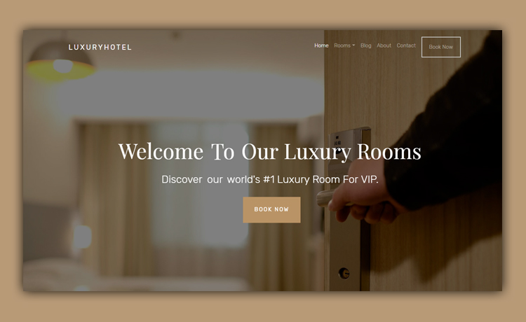 Free HTML5 Hotel Website Template for Painless Customization