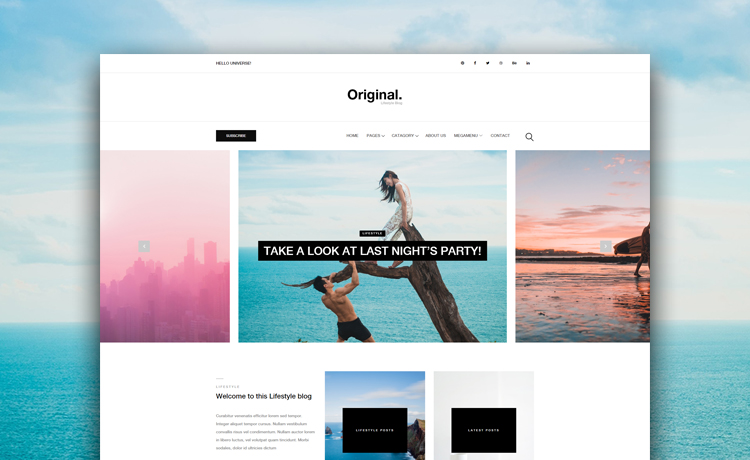 Clean and Minimal Free HTML5 Bootstrap Blog Website Template