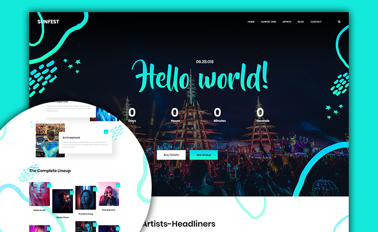 Free HTML5 Bootstrap Event Website Template