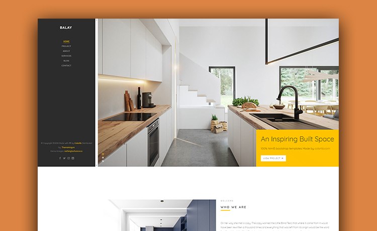 Balay Free Interior Design Portfolio Template