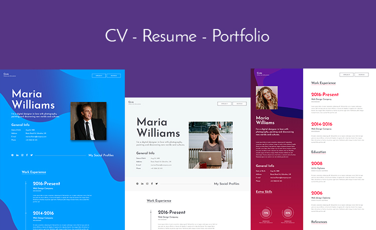 free Bootstrap resume template