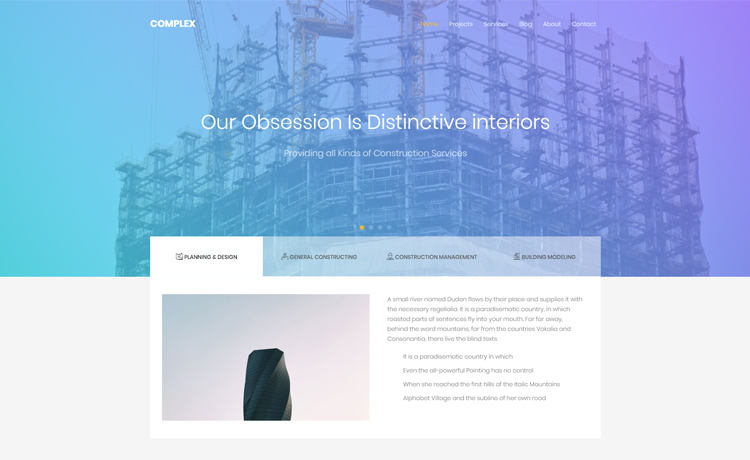 Free Bootstrap Construction Template